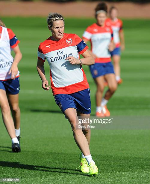 Kelly Smith of Arsenal Ladies during their training session at London Colney on July 3 2014 in St Albans England