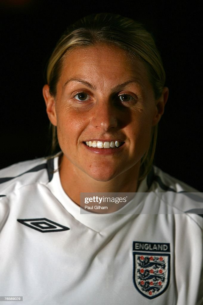 Kelly Smith of England poses at the team hotel prior to an England training session ahead of the FIFA 2007 World Cup in China at Shanghai Songjiang Stadium on September 8, 2007 in Shanghai, China.