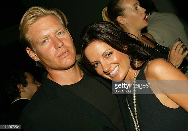 Kelly Smythe and guest during Gucci Spring Summer 2007 Collections Launch at Carriageworks Eveleigh in Sydney NSW Australia