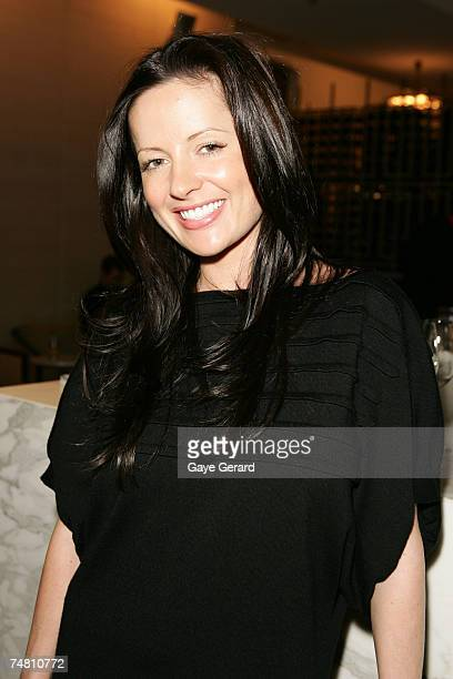 Kelly Smythe attends the Tommy Hilfiger Spring/Summer Launch at Est Restaurant on June 20 2007 in Sydney Australia