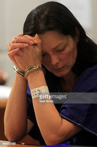 Kelly Soo Park holds her head after Los Angeles County Superior Court Judge Keith L Schwartz raises her bail to $35–million July 20 2010 Park was...