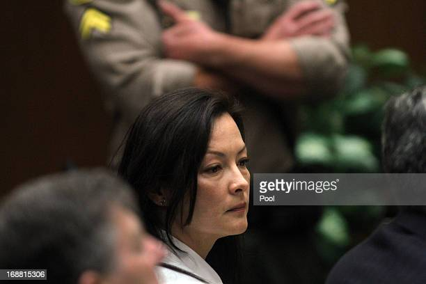 Kelly Soo Park listens to opening statements in her murder trial on May 15 2013 in Los Angeles California Park is charged with the killing of...
