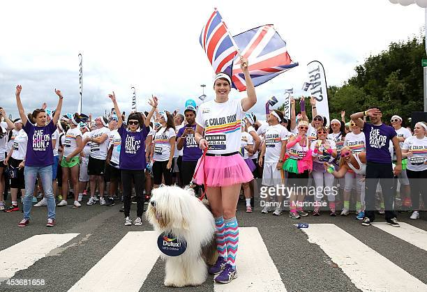 Kelly Sotherton and the Dulux dog start The Color Run presented by Dulux known as the happiest 5k on the planet took place at the NEC August 16th...