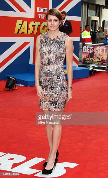 Kelly Sotherton attends the UK film premiere of 'Fast Girls' at Odeon West End on June 7 2012 in London England