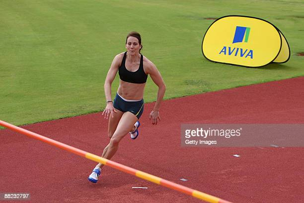 Kelly Sotherton during the Aviva GB and Northern Ireland Team warm weather Camp at the High Performance Institute of Sport on January 12,2009 in...