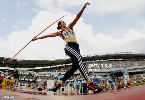 Kelly Sotherton of Great Britain competes during the Javelin throw discipline in the Women's Heptathlon on day two of the 19th European Athletics...