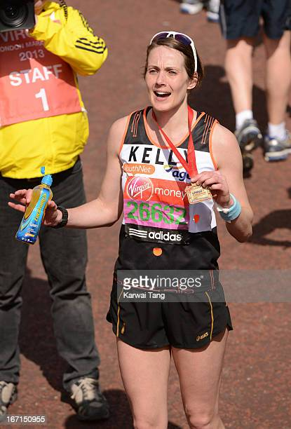Kelly Sotherton takes part in the Virgin London Marathon on April 21 2013 in London England