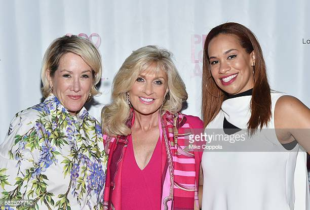 Kelly Spitzley Lenora Klein and Amber Sabathia attend the 2016 Peace Love A Cure Triple Negative Breast Cancer Foundation Benefit on May 15 2016 in...