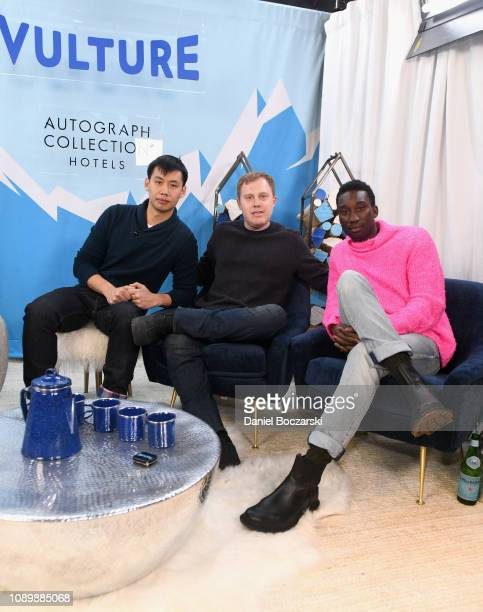 Kelly Sry Lucas Heyne and Nathan StewartJarrett attend the Vulture Spot during Sundance Film Festival on January 26 2019 in Park City Utah