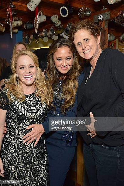 Kelly Stables Leah Remini and Mindy Schultheis attend The Exes Season 4 which premieres November 5 at 1030p ET/PT at Wirtshaus LA on October 27 2014...