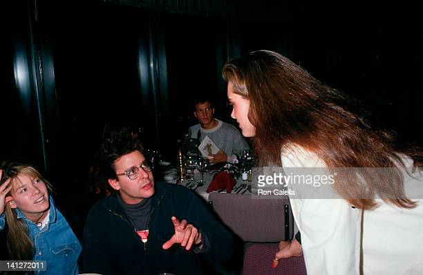 Kelly Stafford Judd Nelson and Brooke Shields at the The Pepsi Celebrity Ski Invitational Corination Queens Ball Mt Saint Anne Quebec Mt Saint Anne