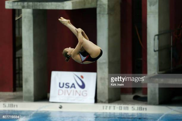 Kelly Straub of the Nebraska Diving Club competes during the Senior Women's 1m Semi Final during the 2017 USA Diving Summer National Championships on...