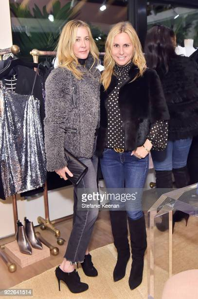 Kelly Styne and Stacey Kramer attend Veronica Beard LA Store Opening on February 21 2018 in Los Angeles California