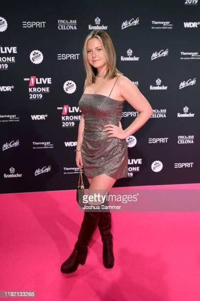 Kelly Svirakova arrives for the 1Live Krone radio award at Jahrhunderthalle on December 05 2019 in Bochum Germany
