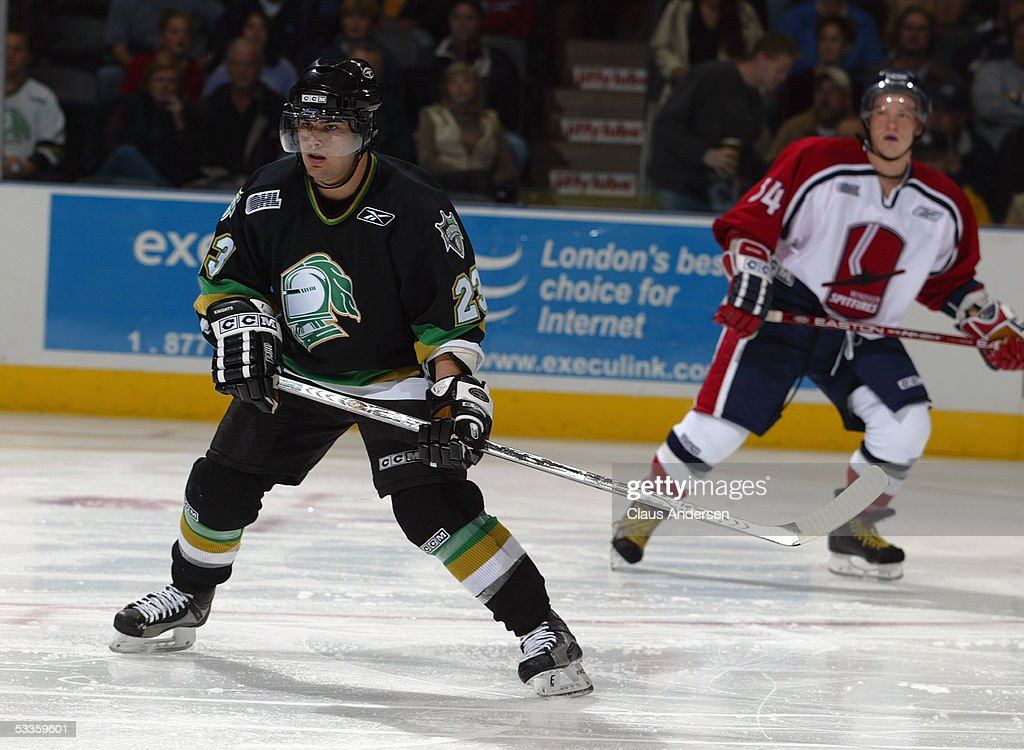Kelly Thomson Of The London Knights Skates During A Ontario Hockey