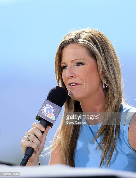 Kelly Tilghman of the Golf Channel during the first round of the 2012 Kraft Nabisco Championship at Mission Hills Country Club on March 29 2012 in...