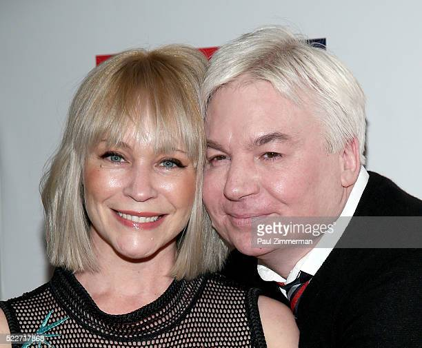 Kelly Tisdale and actor Mike Meyers attend the 2016 Food Bank For New York CanDo Awards Dinner at Cipriani Wall Street on April 20 2016 in New York...