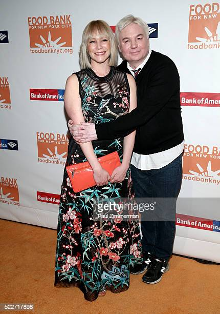 Kelly Tisdale and actor Mike Meyers attend the 2016 Food Bank For New York Can-Do Awards Dinner at Cipriani Wall Street on April 20, 2016 in New York...