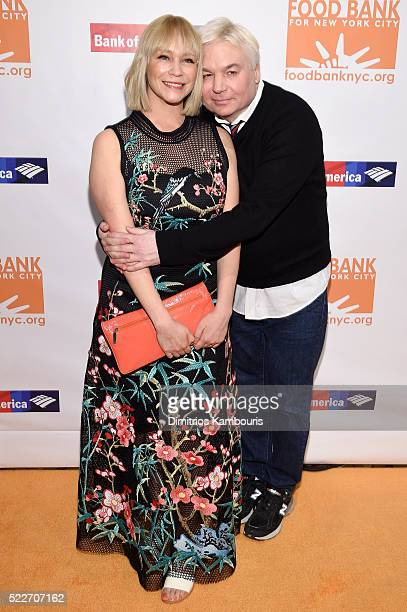 Kelly Tisdale and actor Mike Meyers attends the Food Bank Of New York City's Can Do Awards 2016 hosted by Mario Batali at Cipriani Wall Street on...