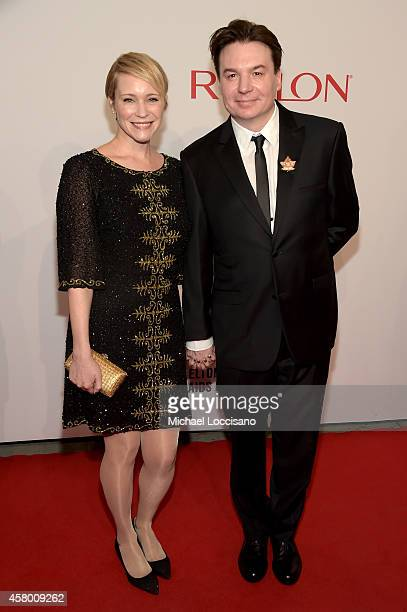 Kelly Tisdale and actor Mike Myers attend the Elton John AIDS Foundation's 13th Annual An Enduring Vision Benefit at Cipriani Wall Street on October...