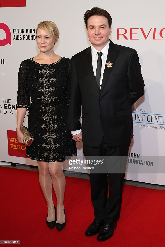 Kelly Tisdale (L) and Mike Myers attend the Elton John AIDS Foundation's 13th Annual An Enduring Vision Benefit at Cipriani Wall Street powered by CIROC Vodka on October 28, 2014 in New York City.