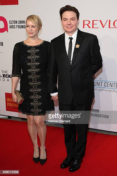 Kelly Tisdale and Mike Myers attend the Elton John AIDS Foundation's 13th Annual An Enduring Vision Benefit at Cipriani Wall Street powered by CIROC...