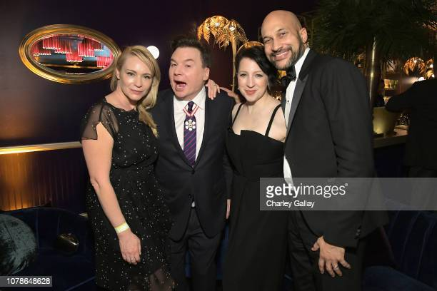 Kelly Tisdale Mike Myers Elisa Key and KeeganMichael Key attends the Netflix 2019 Golden Globes After Party on January 6 2019 in Los Angeles...