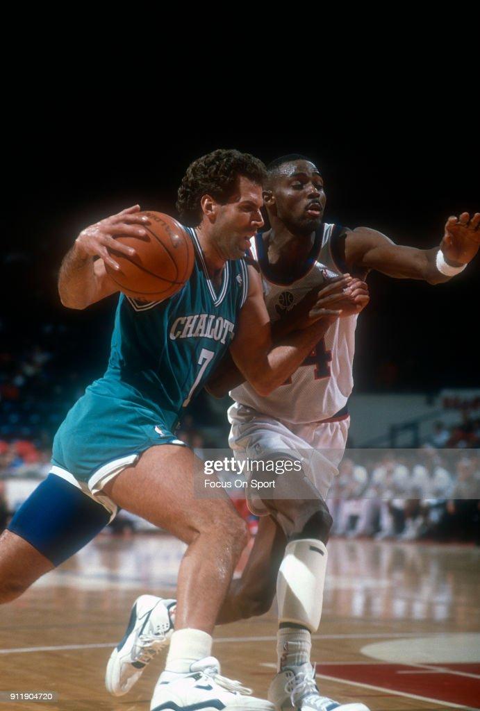 Charlotte Hornets v Washington Bullets : News Photo