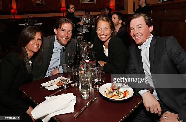 Kelly Turlington Burns Edward Burns Christy Turlington Burns and Brian Burns attend Rita Wilson's Opening Night at 54 Below on April 14 2013 in New...