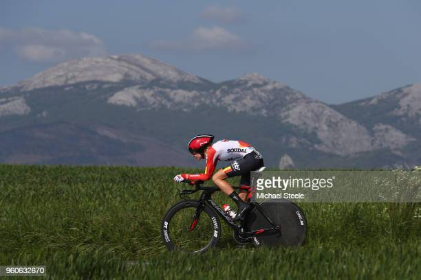 Kelly Van Den Steen of Belgium and Lotto Soudal Ladies during the 31st Women WT EmakumeenBira Stage 2 266km Individual Time Trial from Agurain to...