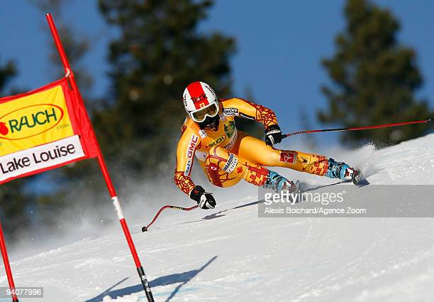 Kelly Vanderbeek of Canada during the Audi FIS Alpine Ski World Cup Women's SuperG on December 6 2009 in Lake Louise Canada