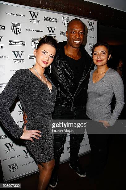 Kelly Vedovelli Actor Eebra Toore and TV Presenter Anais Baydemir attend the Launch of Kelly Vedoveli's blog at Bridge Club on January 7 2016 in...