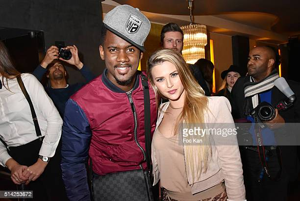 Kelly Vedovelli and a rap artist attend the 'M.Georges Restaurant' : Opening Party - Paris Fashion Week Womenswear Fall/Winter 2016/2017 on March 7,...