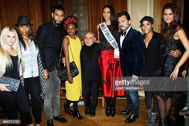 Kelly Vedovelli Angel Chow Toun La Fouine Inna Modja Paolo Calia Miss France 2014 Flora Coquerel Designer Oscar Carvallo Audrey Chauveau and Malika...