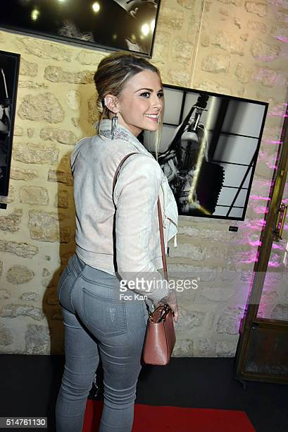 Kelly Vedovelli attends Eat My Art Stefanie Renoma Photo Exhibition at Black Gallery on March 10 2016 in Paris France