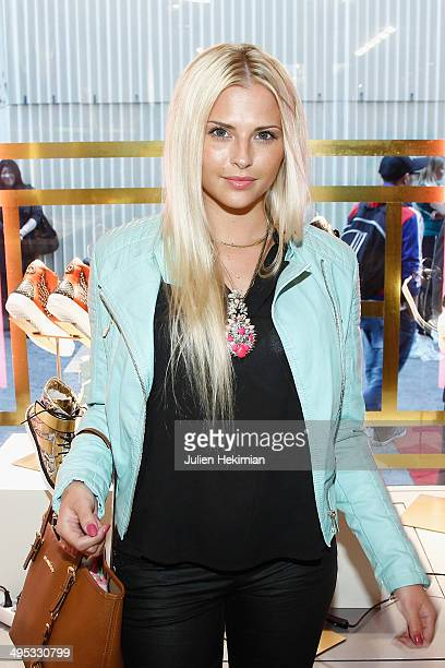 Kelly Vedovelli attends Marion Bartoli By Musette Launches 'Premier Envol' Collection on June 2, 2014 in Paris, France.