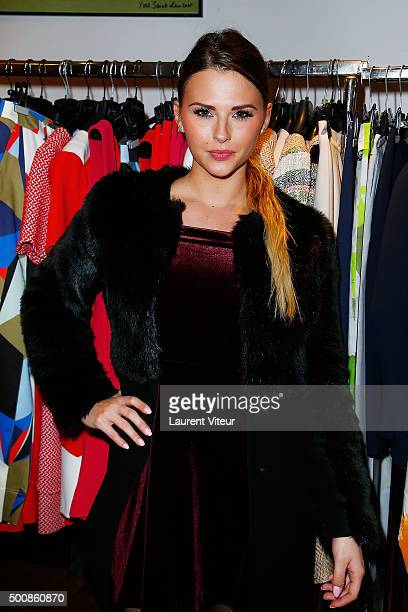 Kelly Vedovelli attends the 'Maison Farrington' Cocktail Party on December 10 2015 in Paris France