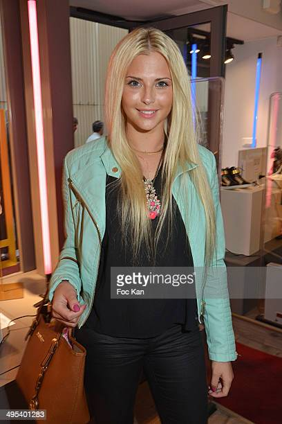 Kelly Vedovelli attends the Marion Bartoli By Musette Launches 'Premier Envol' Collection at Musette Paris on June 2, 2014 in Paris, France.