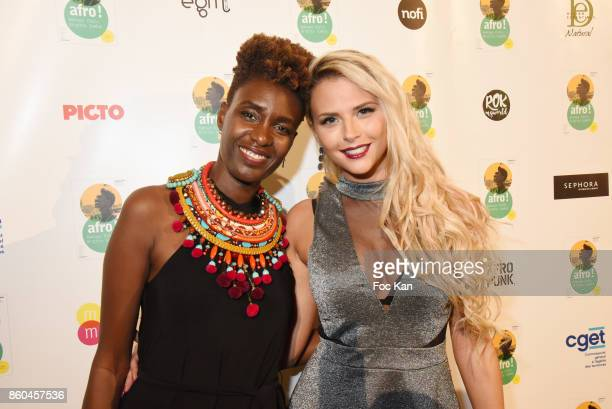 """Kelly Vedovelli TPMP and Rokhaya Diallo attend """"Afro"""" Rokhaya Diallo and photographer Brigitte Sombie Exhibition at Maison des Metallos on October..."""
