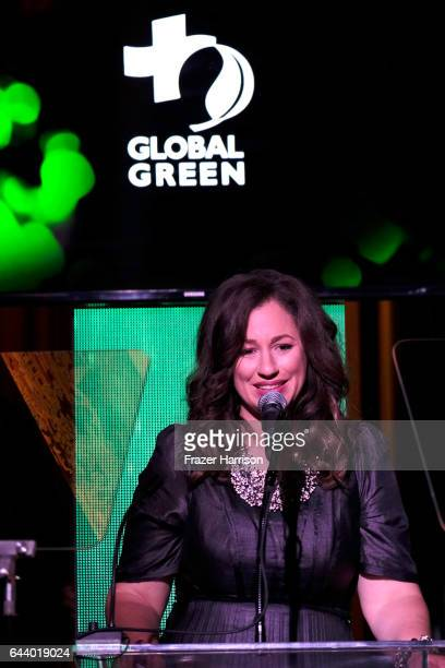 Kelly VlahakisHanks speaks onstage during the 14th Annual Global Green Pre Oscar Party at TAO Hollywood on February 22 2017 in Los Angeles California