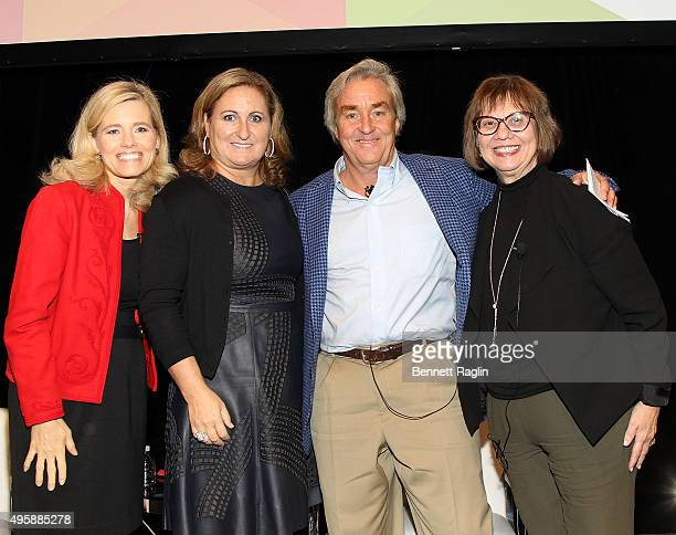 Kelly Wallace Cyma Zarghami Jim Steyer and Ellen Wartella attend the Eight To Eighteen Common Sense Media's Annual NY Luncheon at Gotham Hall on...