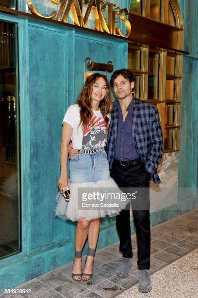 Kelly Wearstler and Brad Korzen celebrate the Compartes Chocolatier Century City Flagship Store Opening on September 27 2017 in Los Angeles California