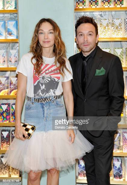 Kelly Wearstler and Jonathan Grahm celebrate the Compartes Chocolatier Century City Flagship Store Opening on September 27 2017 in Los Angeles...