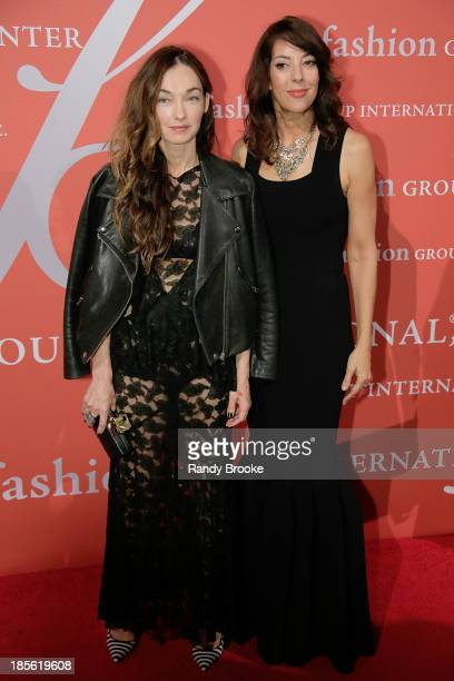 Kelly Wearstler and Leslie Blodgett attend the 30th Annual Night Of Stars presented by The Fashion Group International at Cipriani Wall Street on...