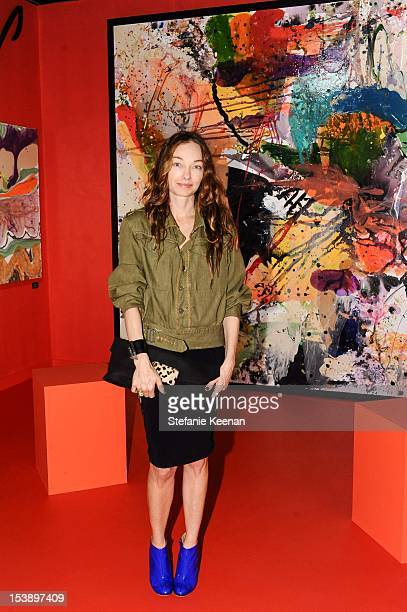 Kelly Wearstler attends 17th Annual Los Angeles Antiques Art Design Show Opening Night Party Benefiting The Decora at Barker Hangar on October 10...