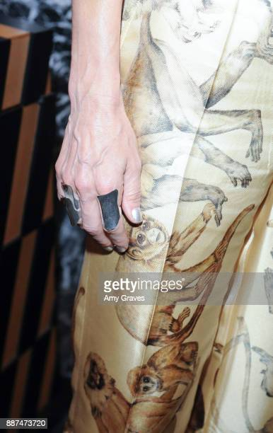 Kelly Wearstler jewelry detail attends Kelly Wearstler hosts 'The Authentics' book signing launch party for Melanie Acevedo and Dara Caponigro at...