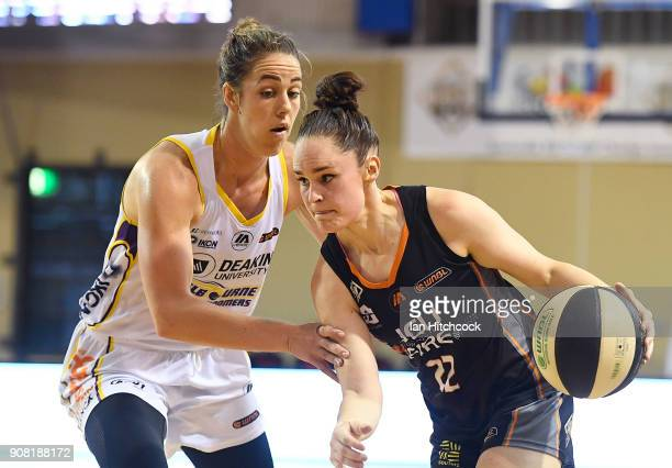 Kelly Wilson of the Fire drives to the basket during game three of the WNBL Grand Final series between the Townsville Fire and Melbourne Boomers at...
