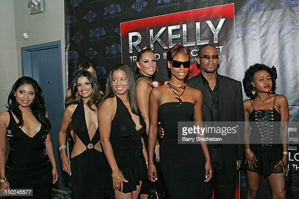 R Kelly with Cat Wilson and guests during R Kelly's 'Trapped in the Closet Chapters 15' Premiere and Release Party at Esquire Theater in Chicago...
