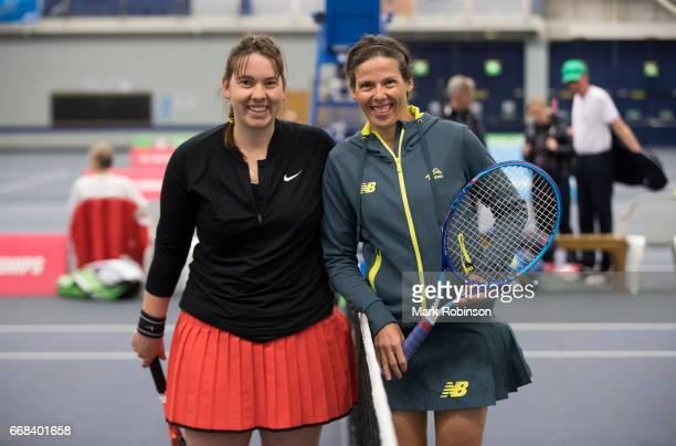 Kelly Wren of Australia and Hanne Lavreysen of Belgium before their Women's Final Match at the INAS Learning Disability International on April 14...