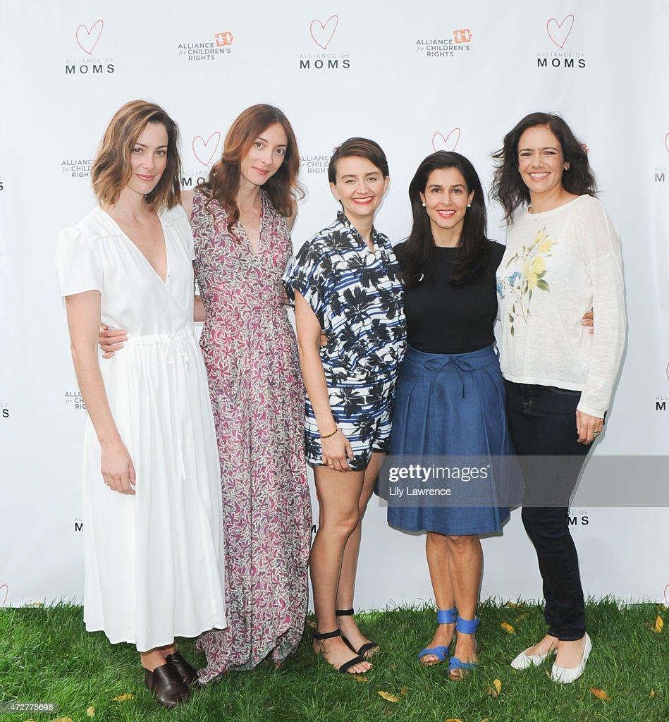Kelly Zajfen, Danika Charity, Emily Lynch, Yasmine Johnson, and Jules Leyser host Alliance Of Moms Giant Playdate on May 9, 2015 in Los Angeles, California.